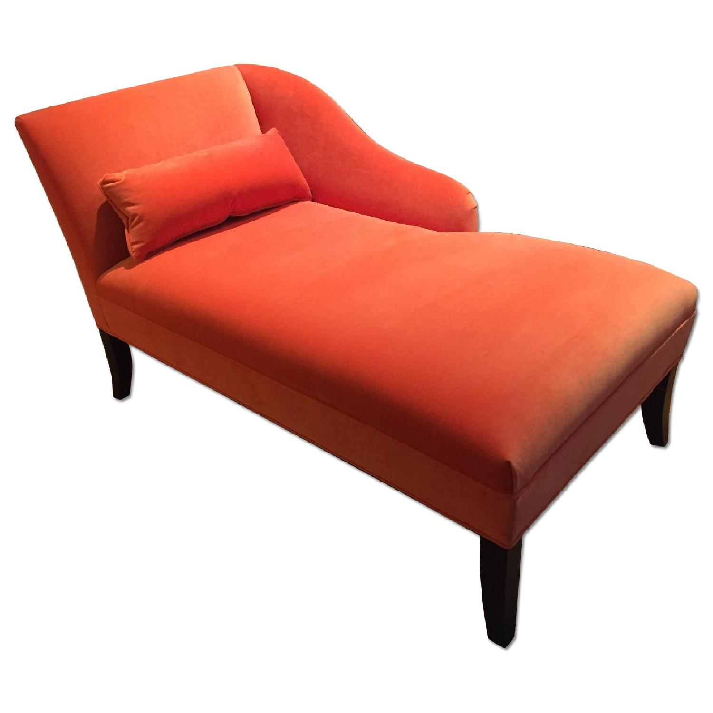 Mitchell Gold + Bob Williams Orange Emma Chaise Lounge - image-0