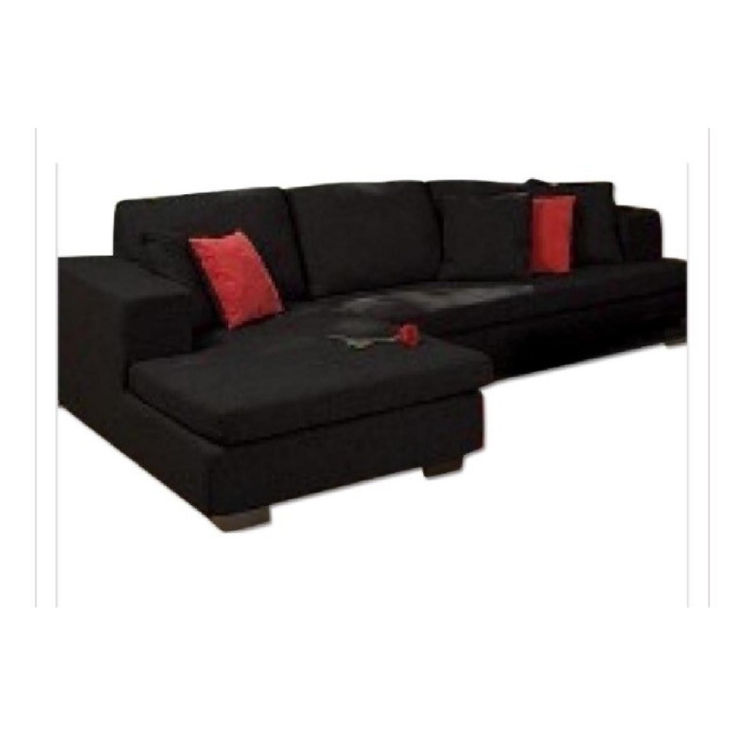 Eurway Microfiber Sectional - image-0