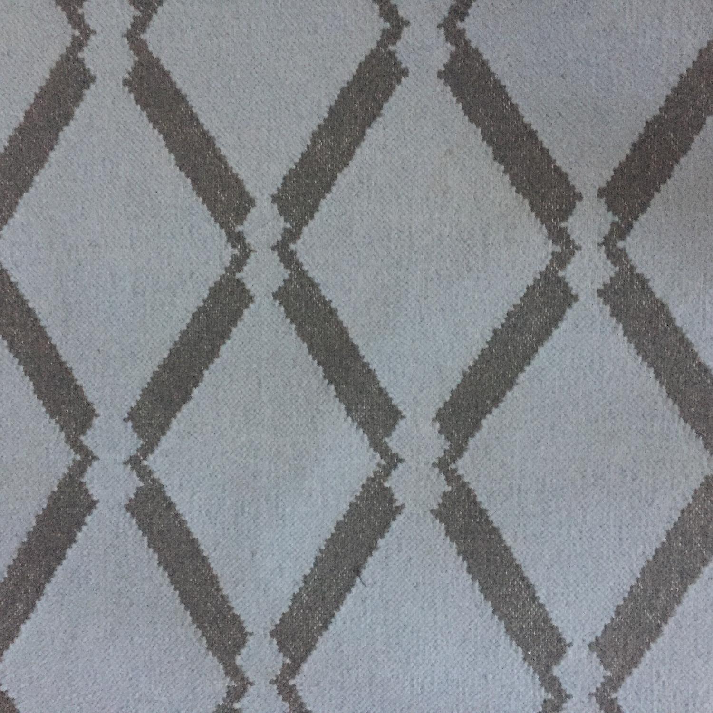West Elm Beaded Diamond Blue & Grey Rug/Dhurrie - image-0