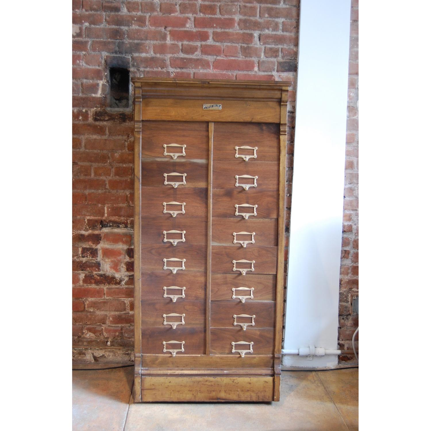 F. Wesel Manufacturing Company Tall File Cabinet - image-9