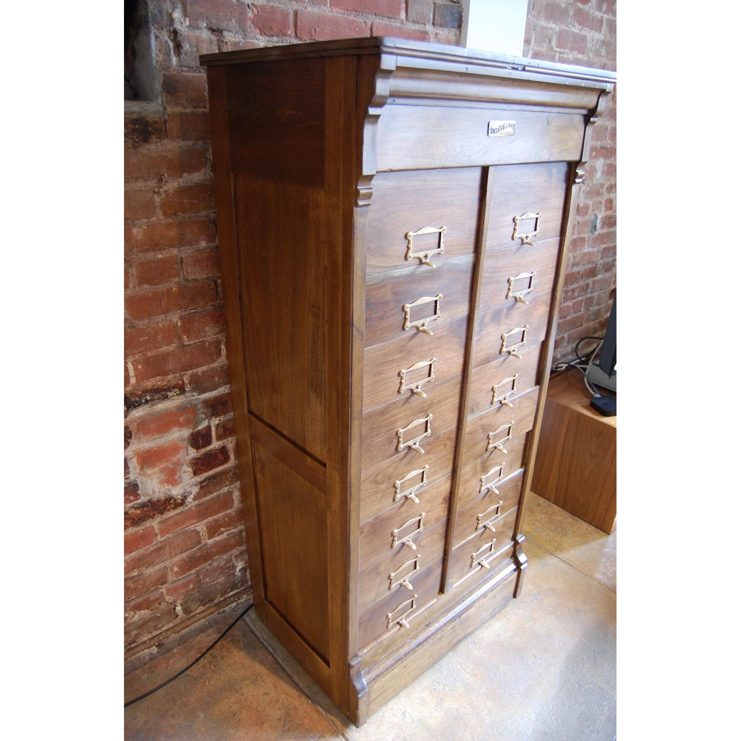 F. Wesel Manufacturing Company Tall File Cabinet - image-11