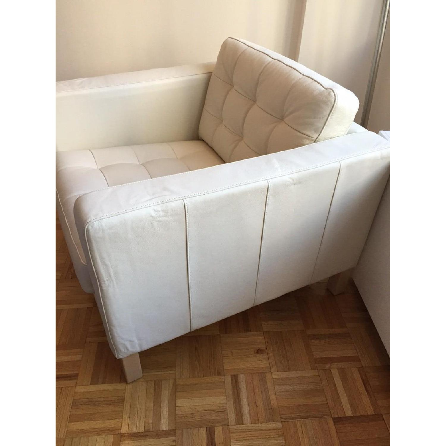 Ikea Leather Off White Armchair - image-2
