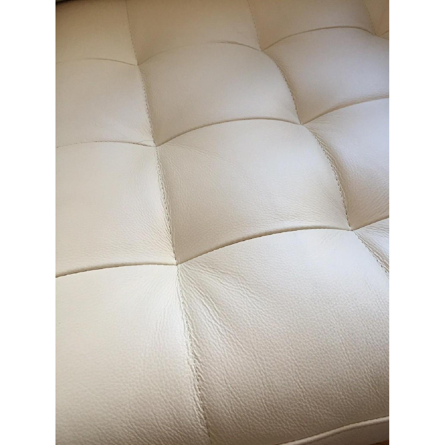 Ikea Leather Off White Armchair - image-4
