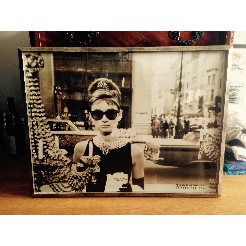 Iconic Framed Audrey Hepburn Print - image-1