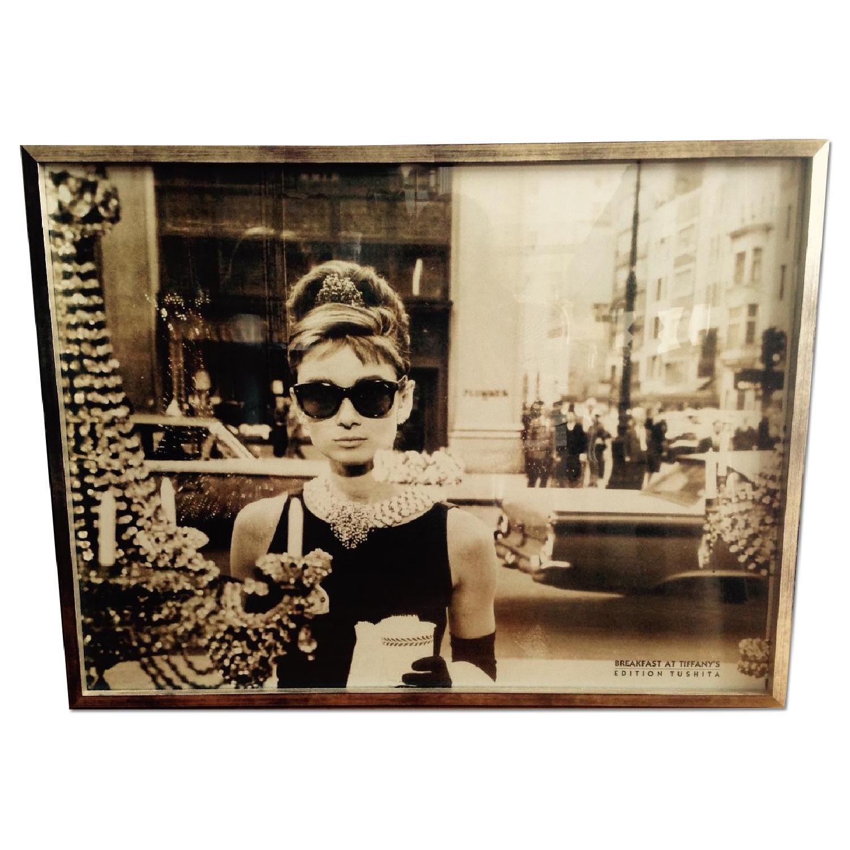Iconic Framed Audrey Hepburn Print - image-0