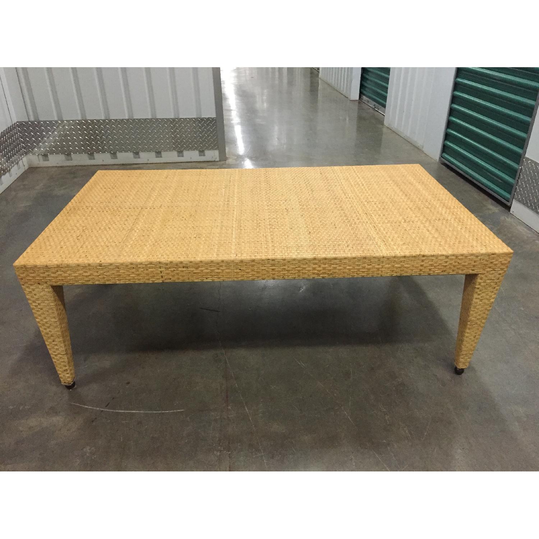 Baker Woven Natural Rattan Tables - Pair - image-3