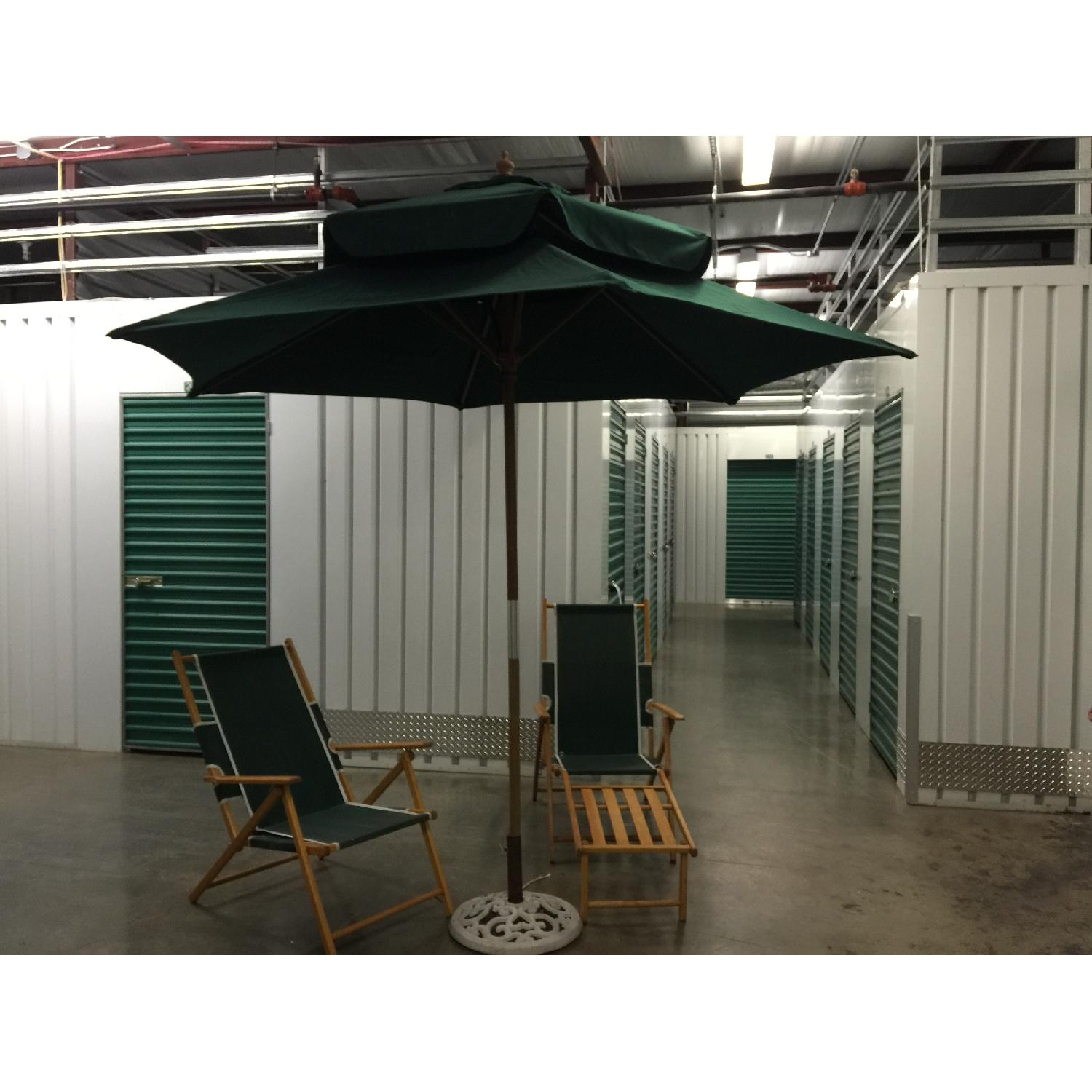 Fully Renovated Long Island Gold Coast Umbrella w/ 2 Folding Deckchairs - image-1