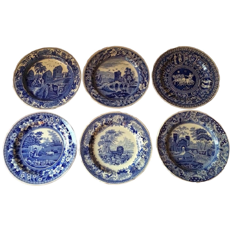 Spode Vintage Spode Lunchen Plates - Set of 6 - image-0