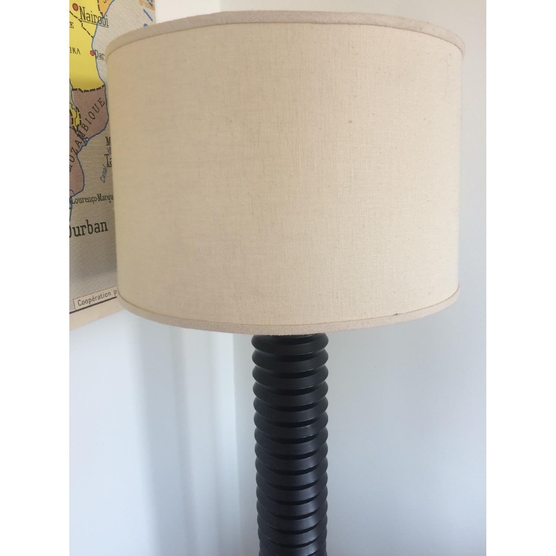 D&D Building Black Lamp w/ Cream Linen Shade - image-2