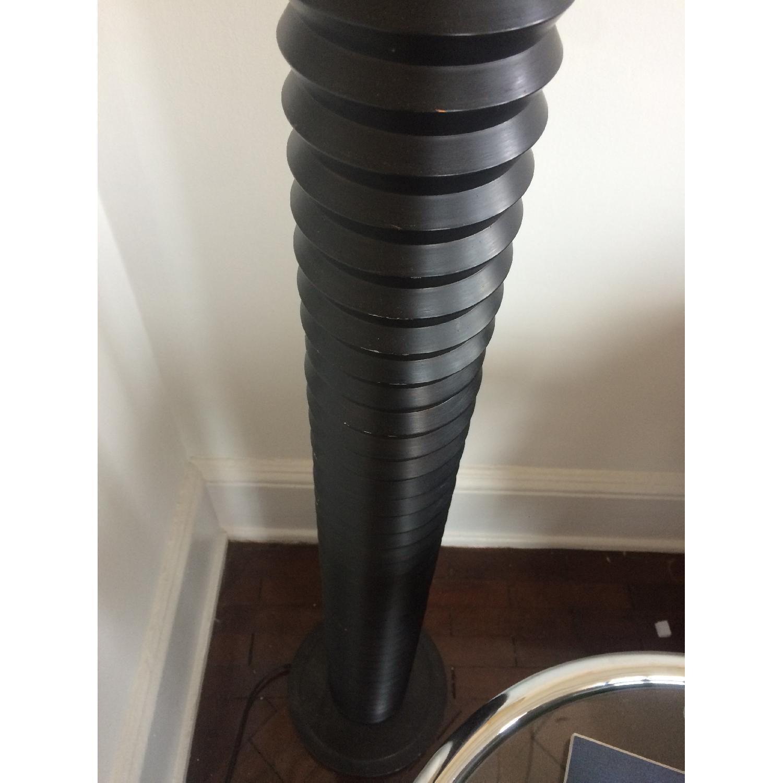 D&D Building Black Lamp w/ Cream Linen Shade - image-4