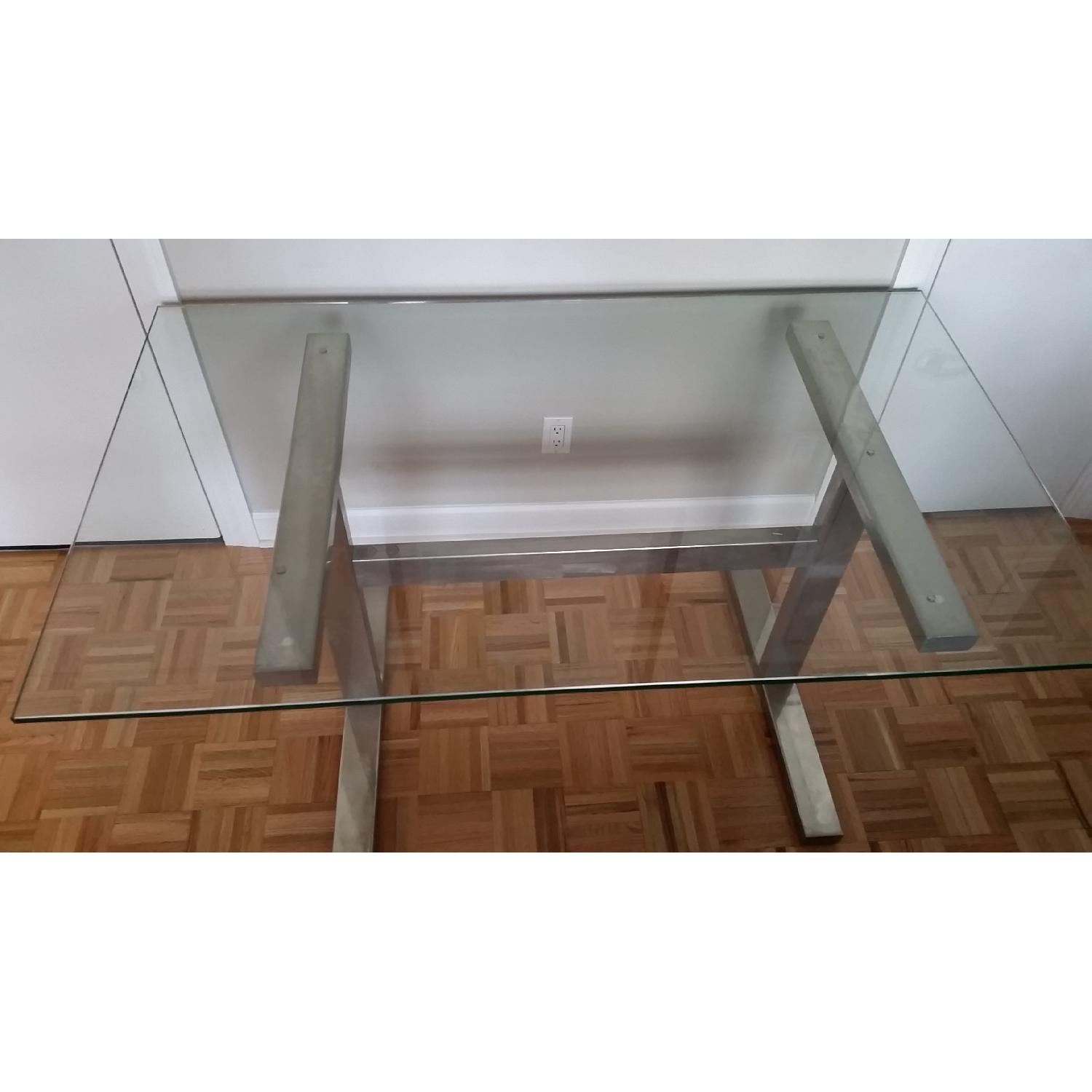 Williams-Sonoma Mercer Glass Table with Metal Frame - image-2