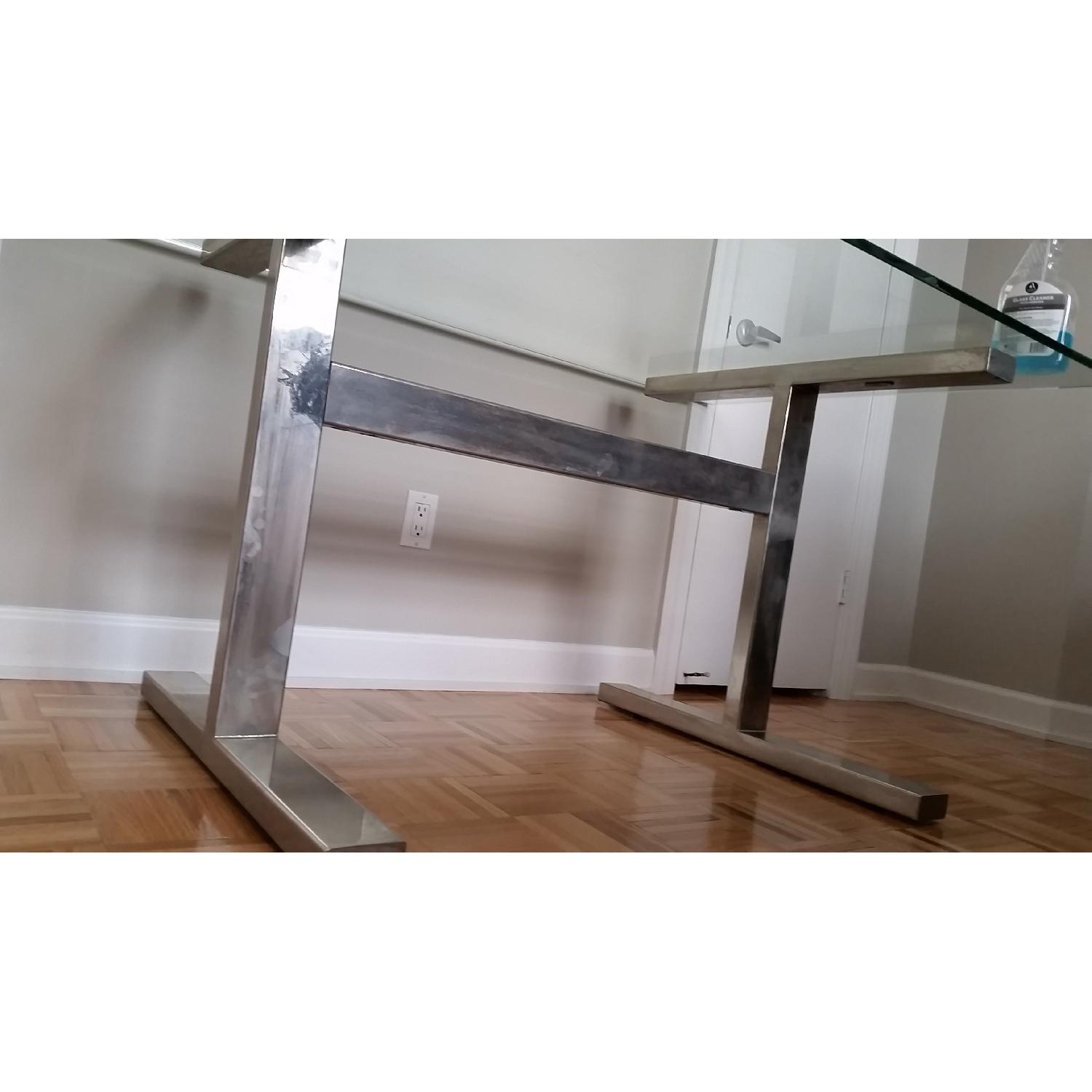 Williams-Sonoma Mercer Glass Table with Metal Frame - image-3
