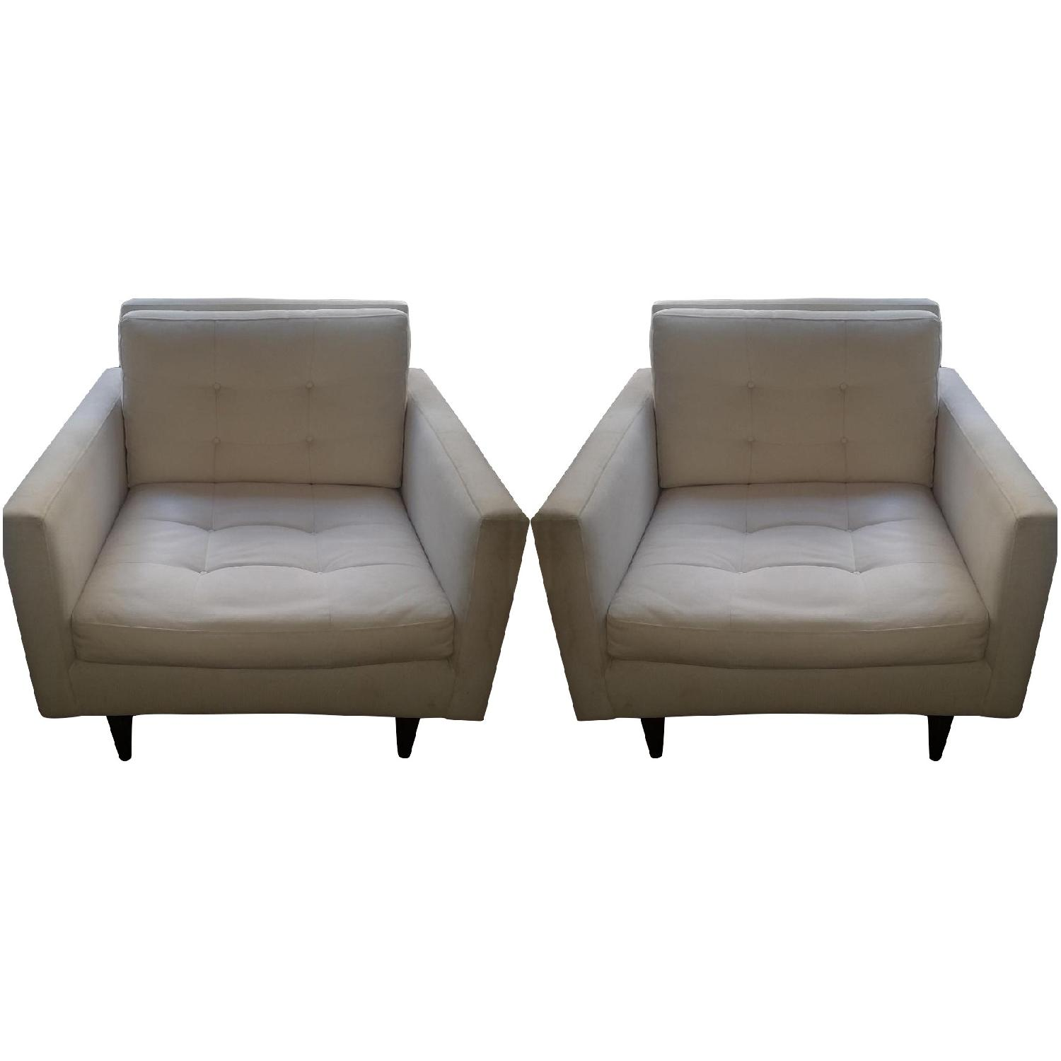 Crate & Barrel Petrie Chairs - Pair - image-0