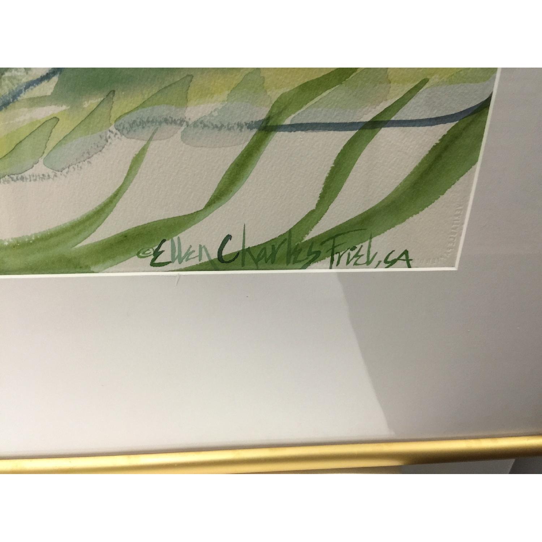 Ellen Friel Watercolor Painting in Gold Frame - image-2
