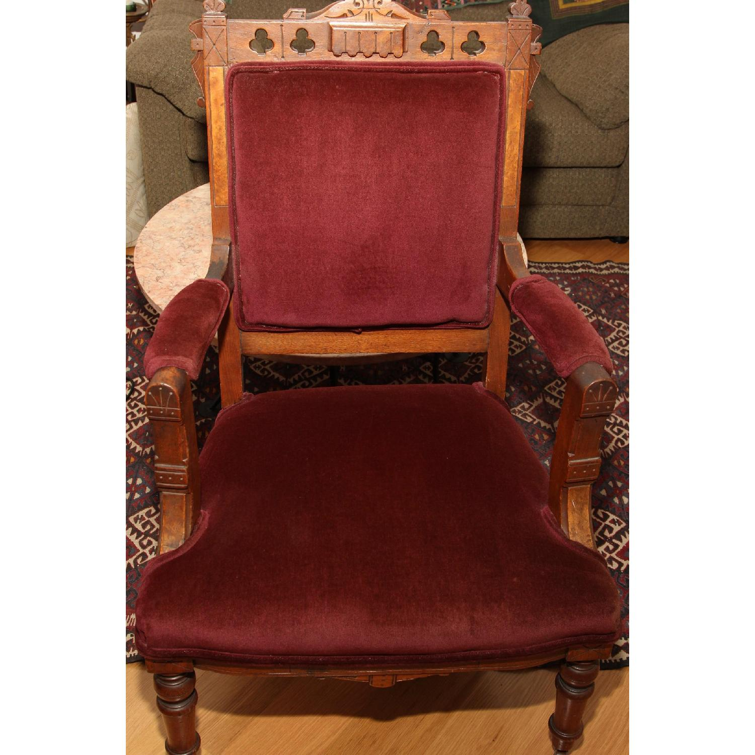 Antique East Lake Victorian Parlor Chair - image-1