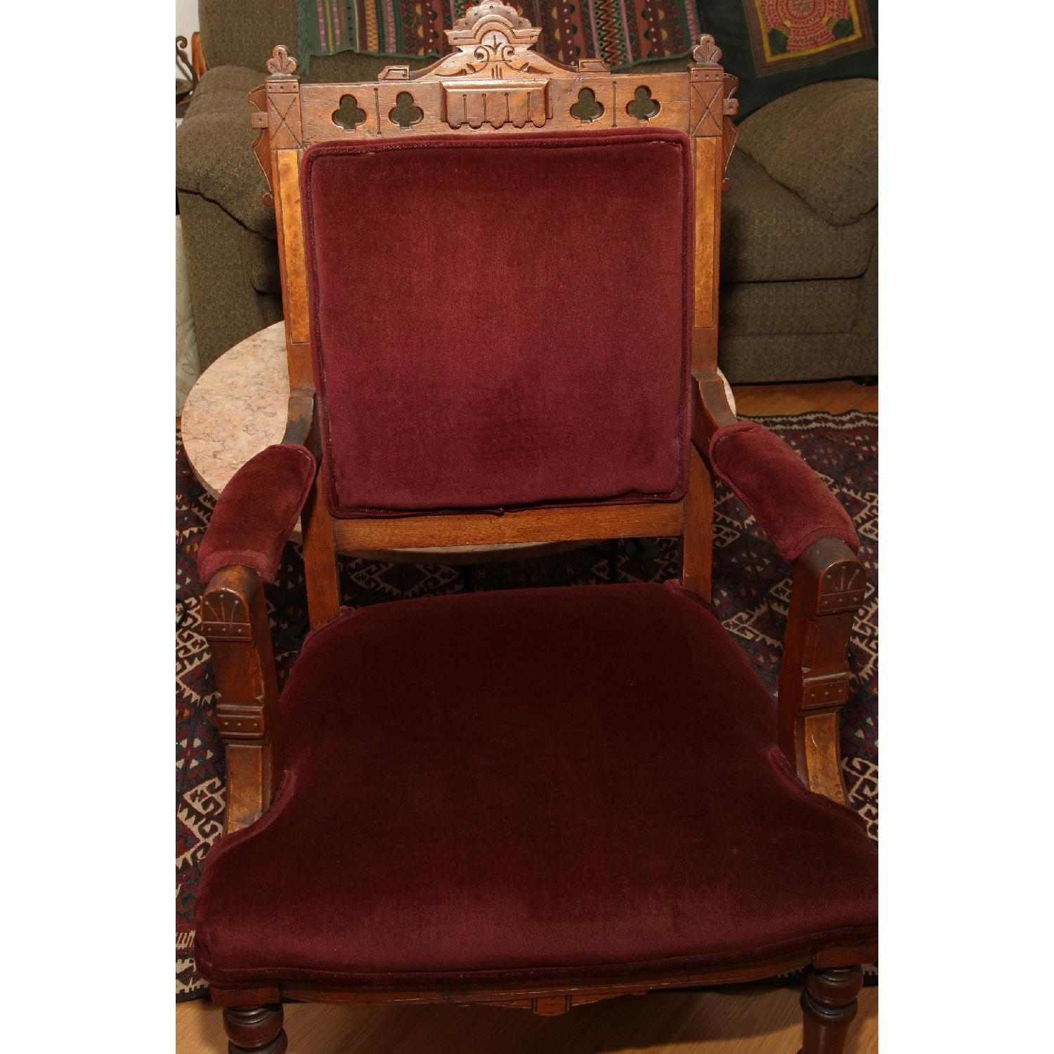 Antique East Lake Victorian Parlor Chair - image-5