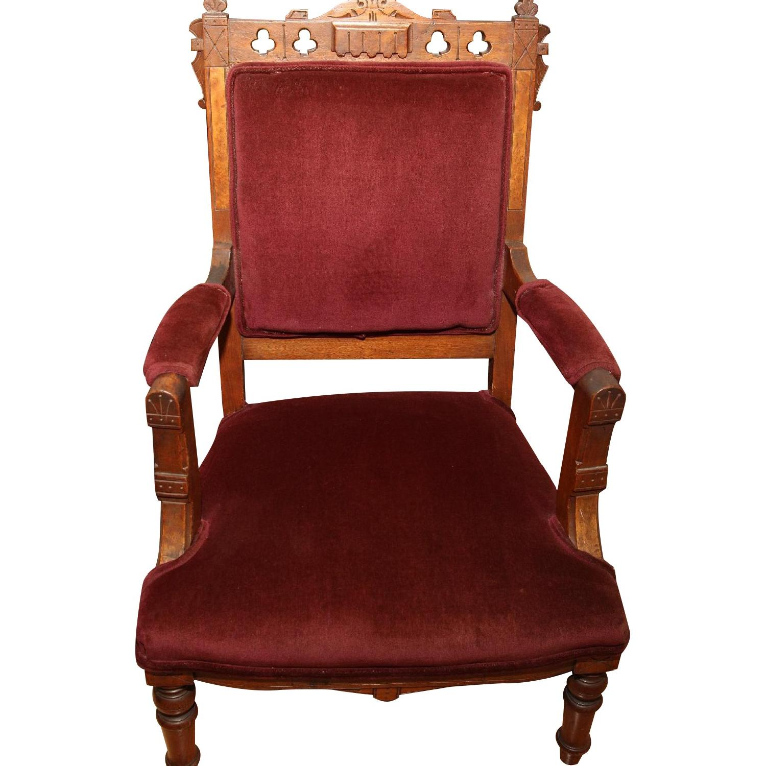 Antique East Lake Victorian Parlor Chair - image-0