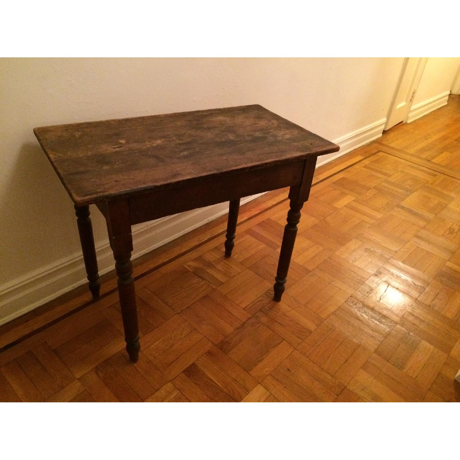 Antique Small Rustic Table - image-1