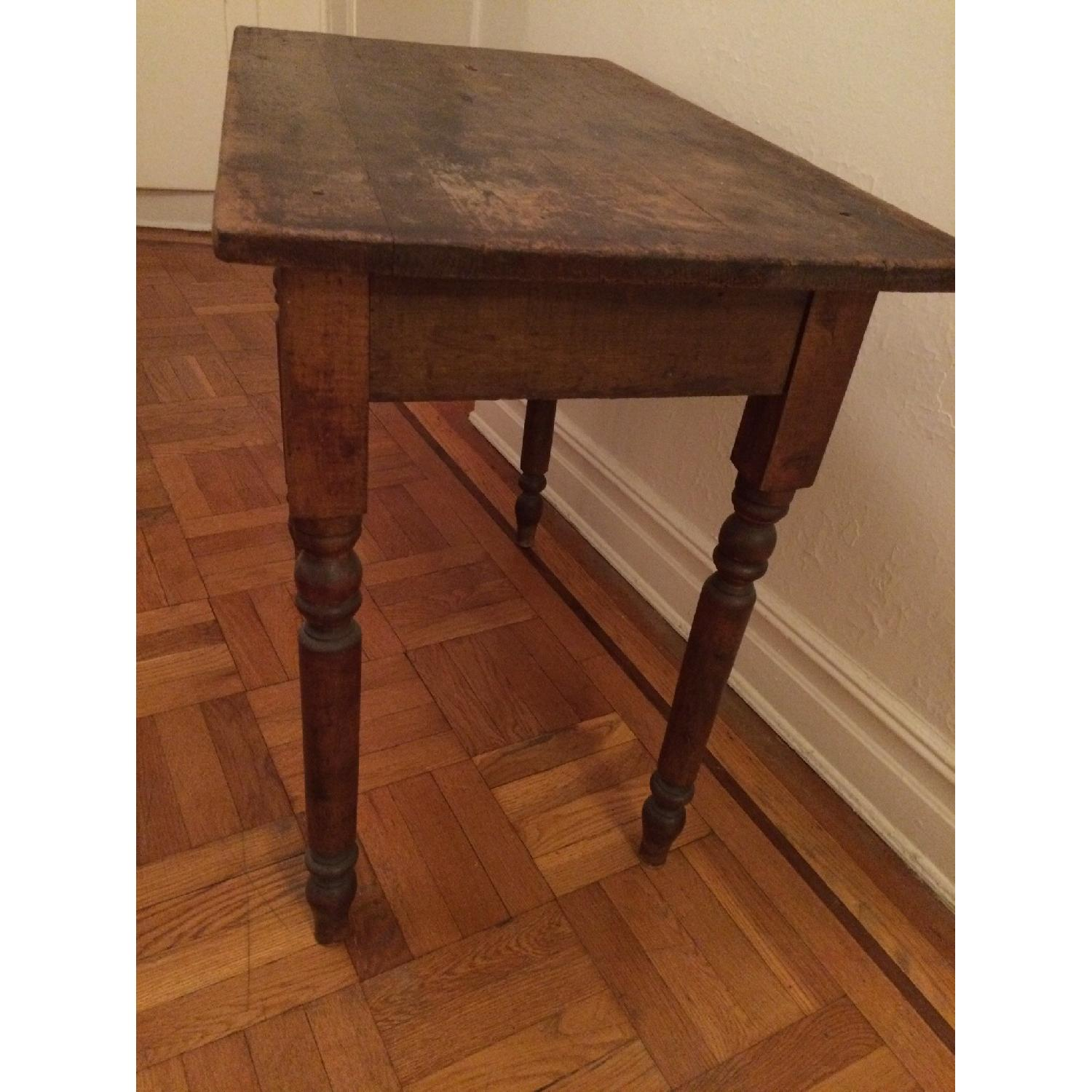 Antique Small Rustic Table - image-2