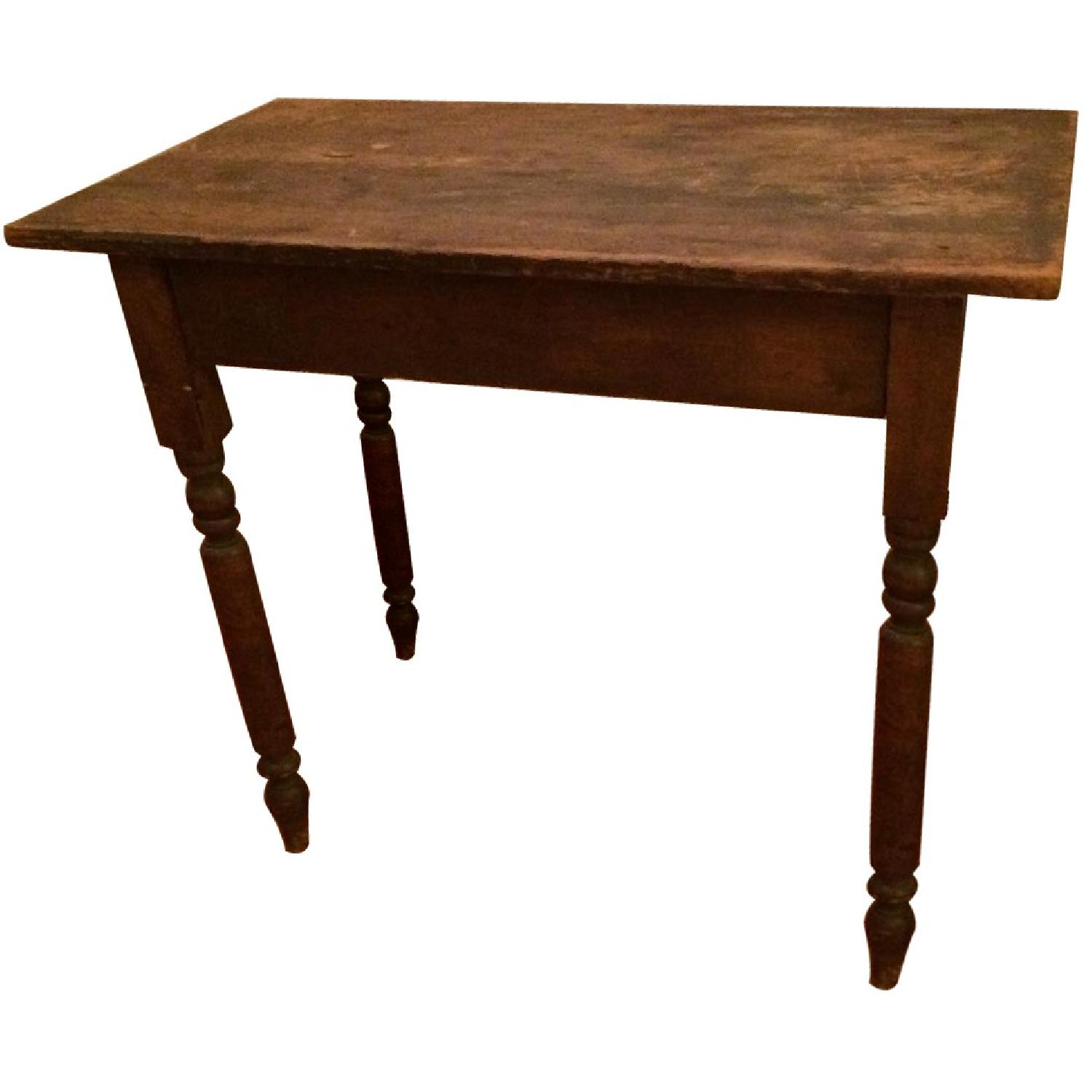Antique Small Rustic Table - image-0