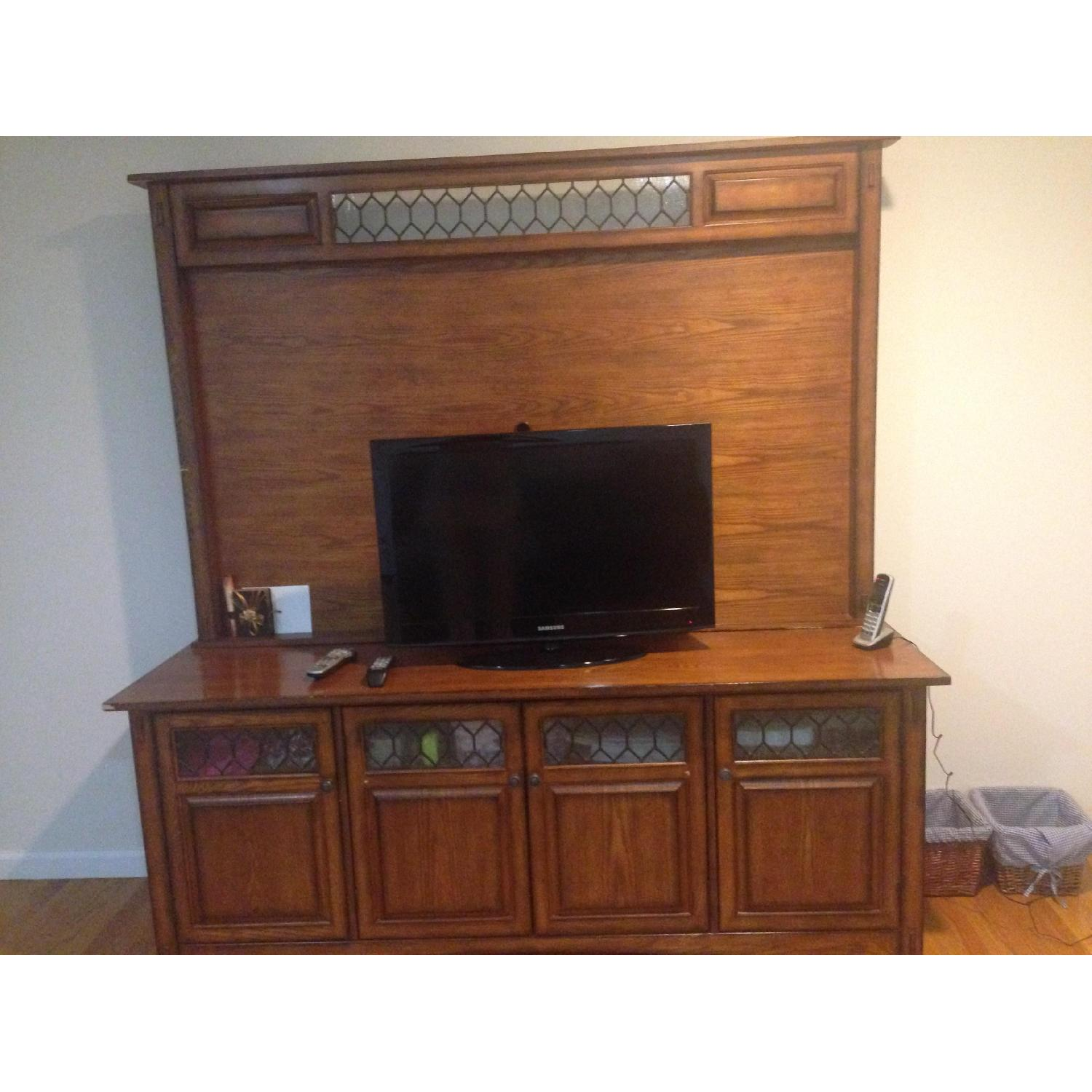 Macy's Solid Wood TV Stand - image-1