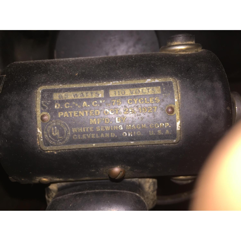 Circa 1950 White Sewing Machine w/ Cabinet - image-5