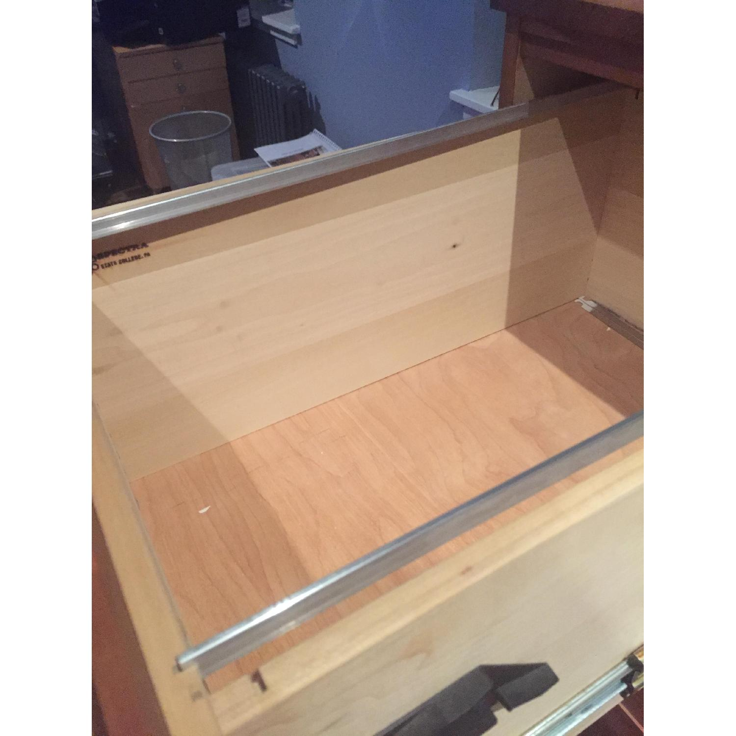 Crate & Barrel 3-Drawer Cherry File Cabinet - image-2