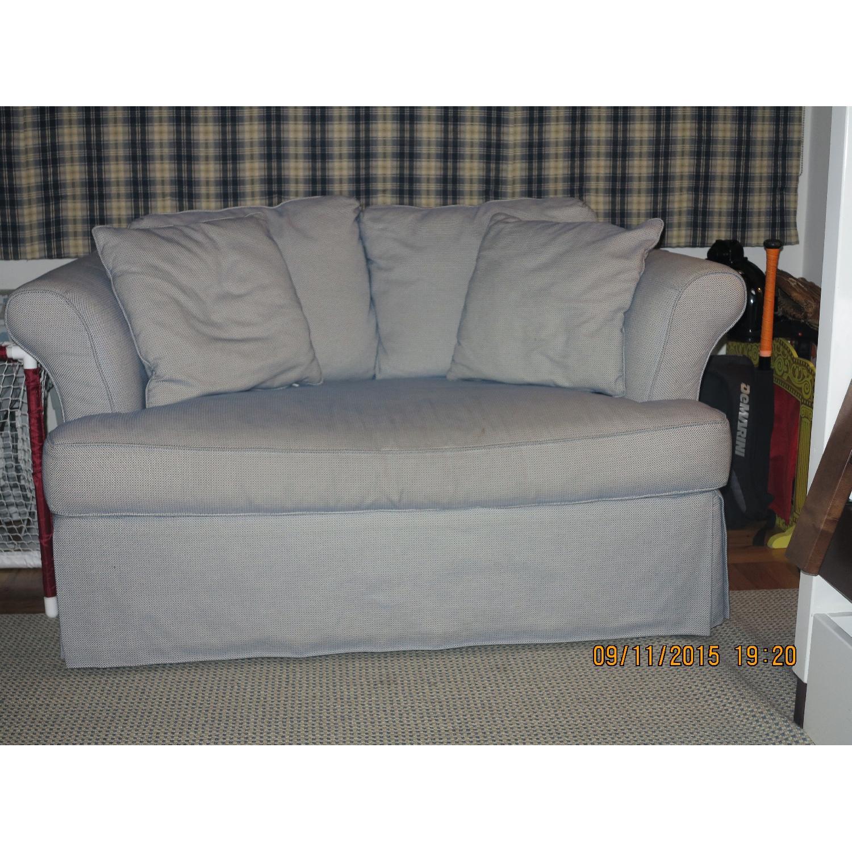 Jennifer Convertibles/Custom Fabric Couch - image-1