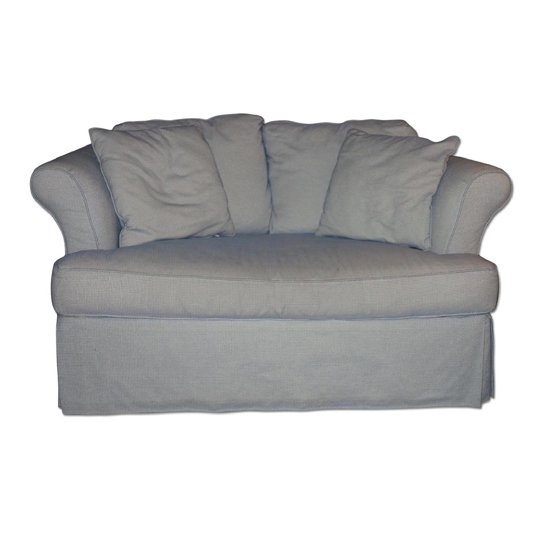 Jennifer Convertibles/Custom Fabric Couch - image-0