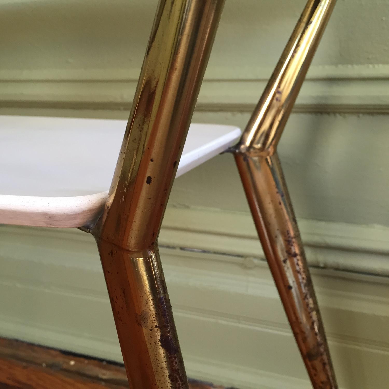 Mid-Century Modern Side Table w/ Brass Legs - image-5