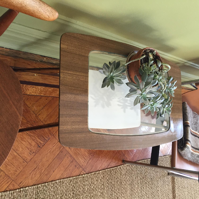 Mid-Century Modern Side Table w/ Brass Legs - image-7