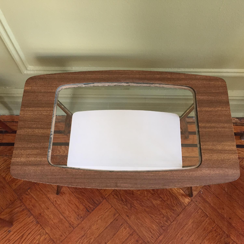 Mid-Century Modern Side Table w/ Brass Legs - image-8