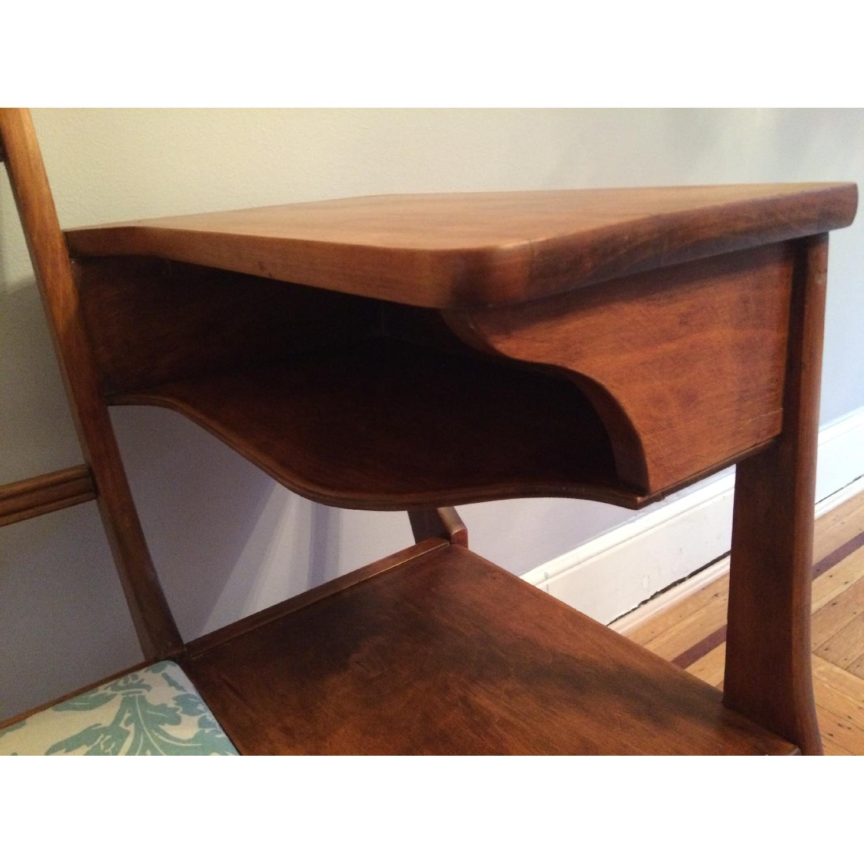 Vintage 1960's Harp Back Refurbished Telephone Gossip Table/Chair - image-3