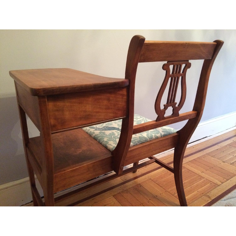 Vintage 1960's Harp Back Refurbished Telephone Gossip Table/Chair - image-6