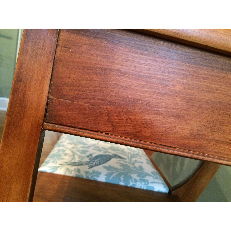 Vintage 1960's Harp Back Refurbished Telephone Gossip Table/Chair - image-7