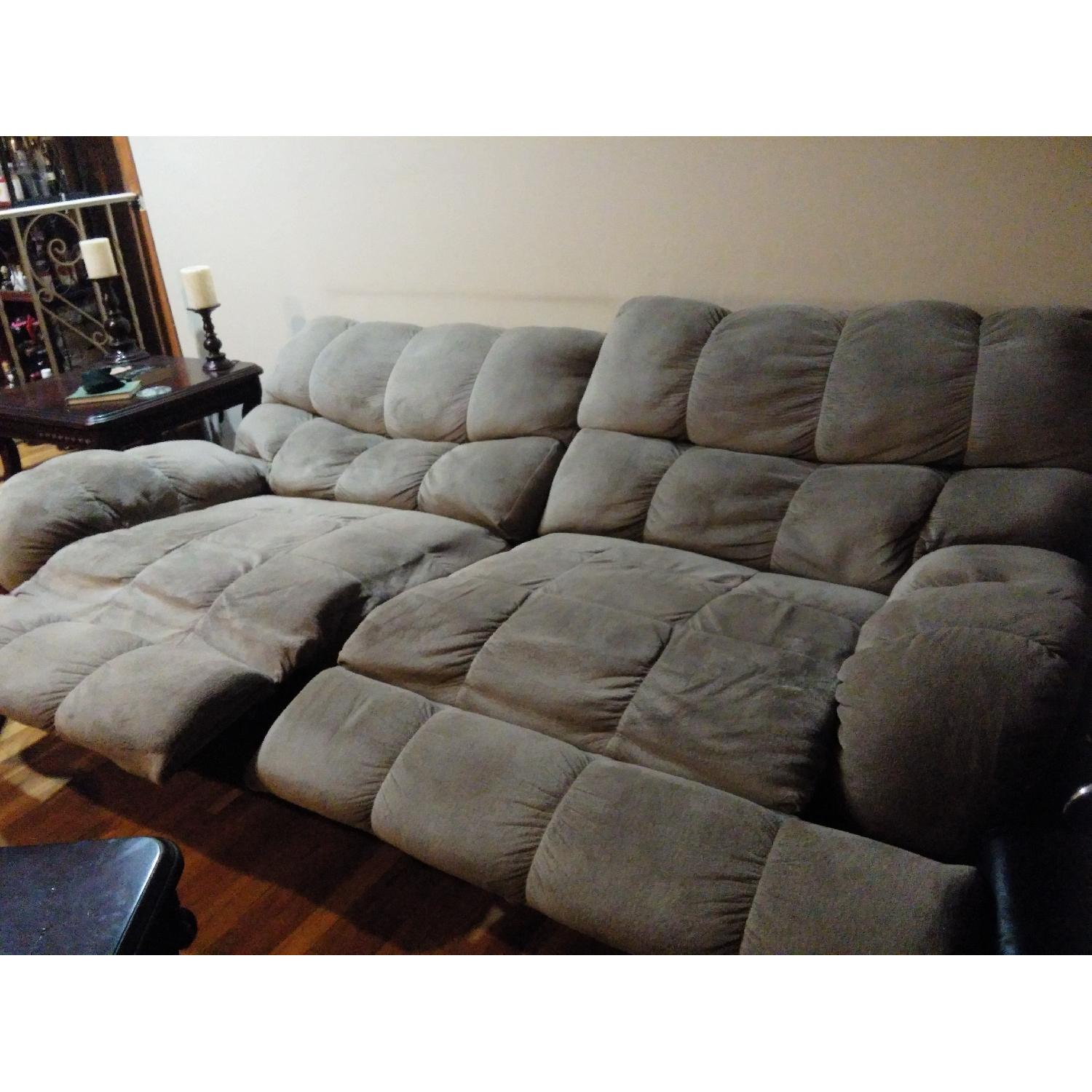 Ashley's Reclining Loveseat - image-1