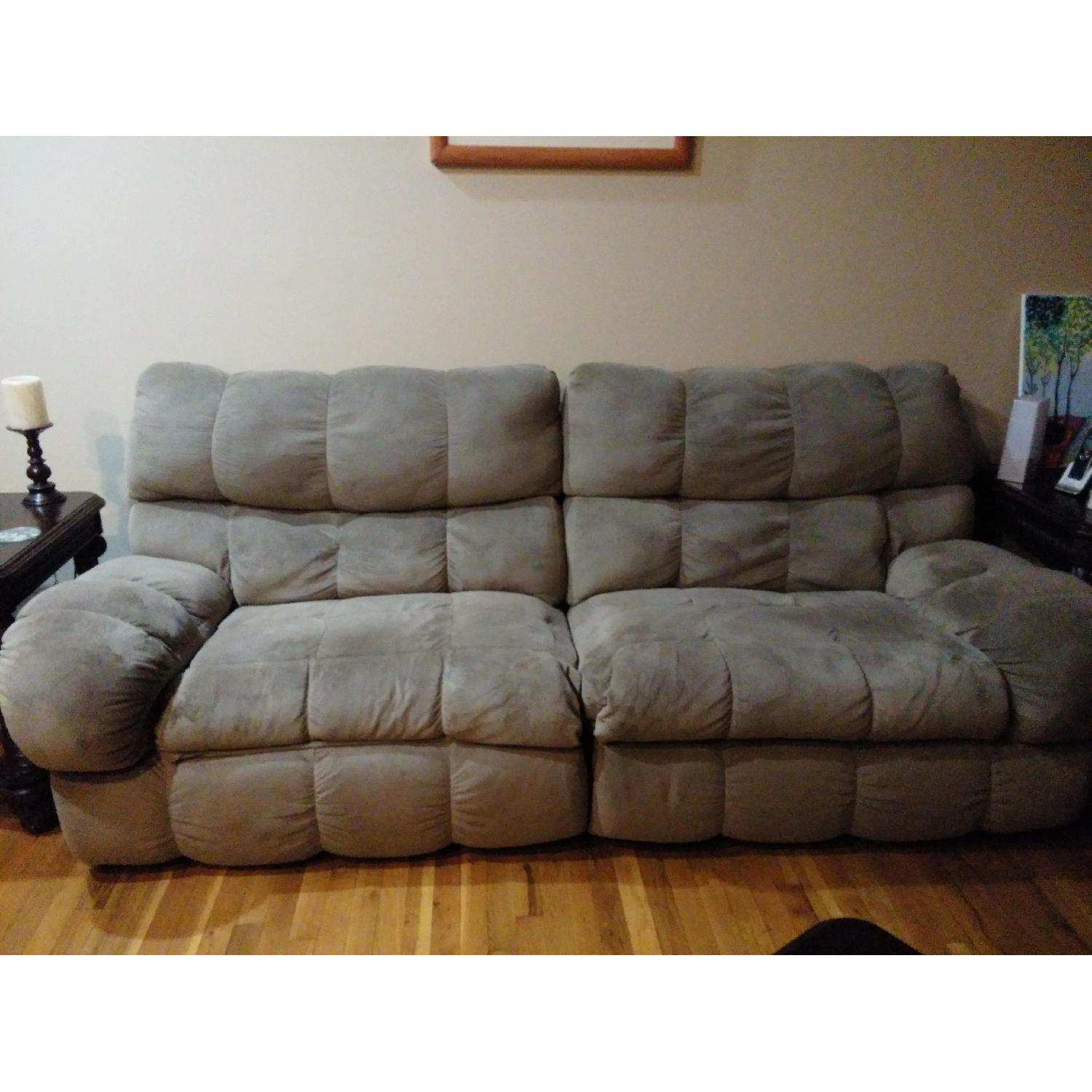 Ashley's Reclining Loveseat - image-5