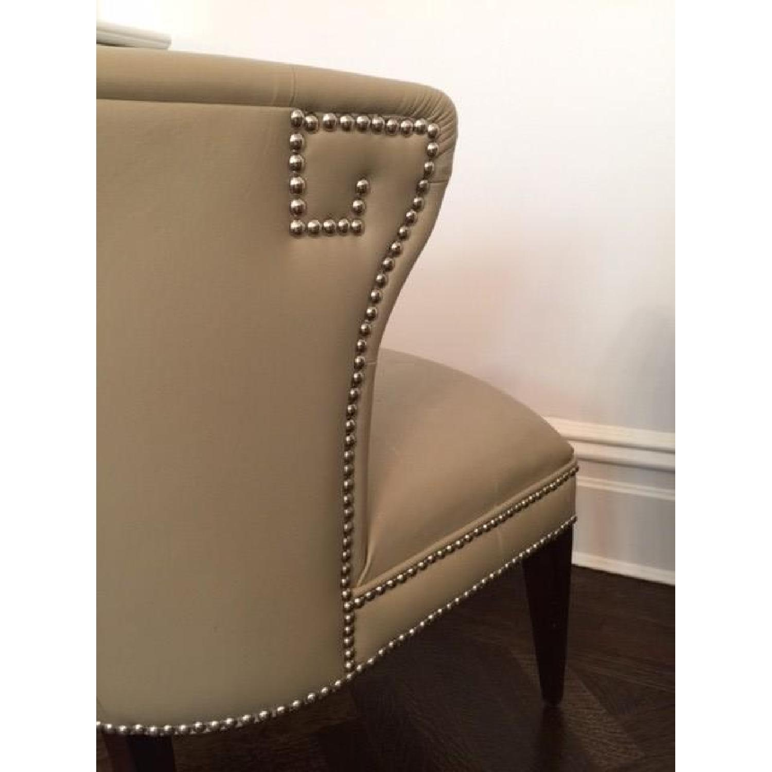 Global Views Leather and Nickel Nail-Head Club Chairs - Pair - image-5