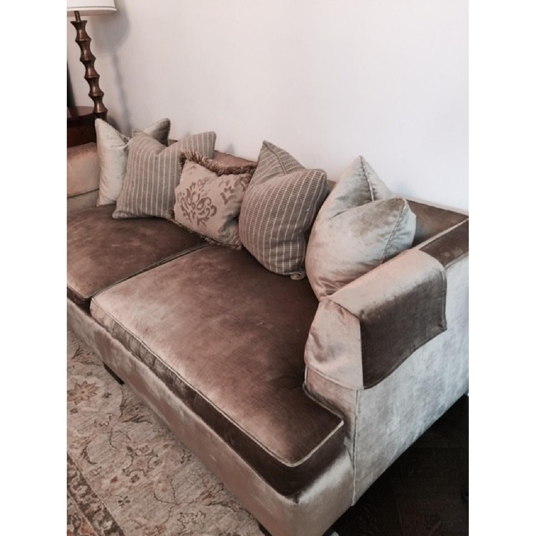 Hickory Chair Sofa in Custom Fabric - image-5