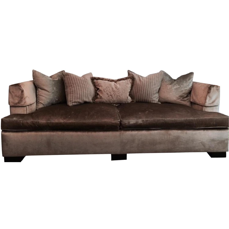 Hickory Chair Sofa in Custom Fabric - image-0