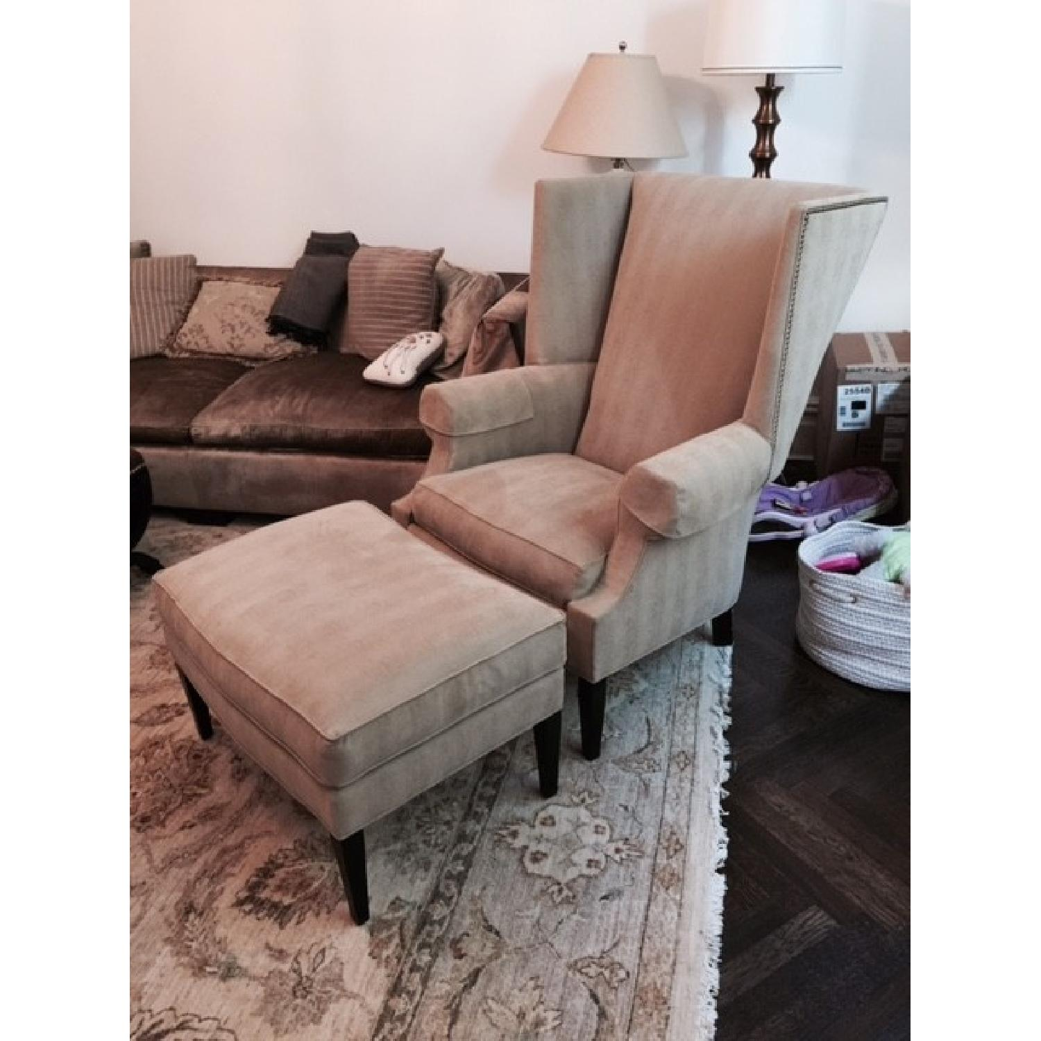 Stickley Audi Arm Chair and Ottoman - image-1