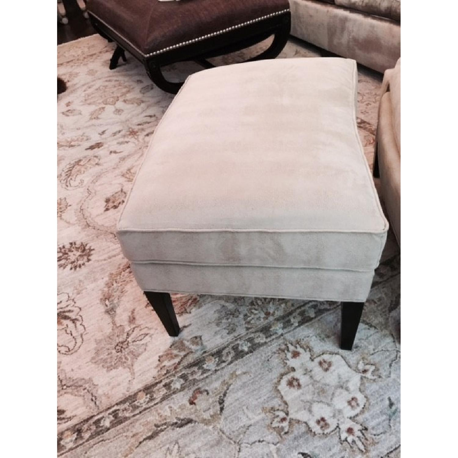 Stickley Audi Arm Chair and Ottoman - image-5