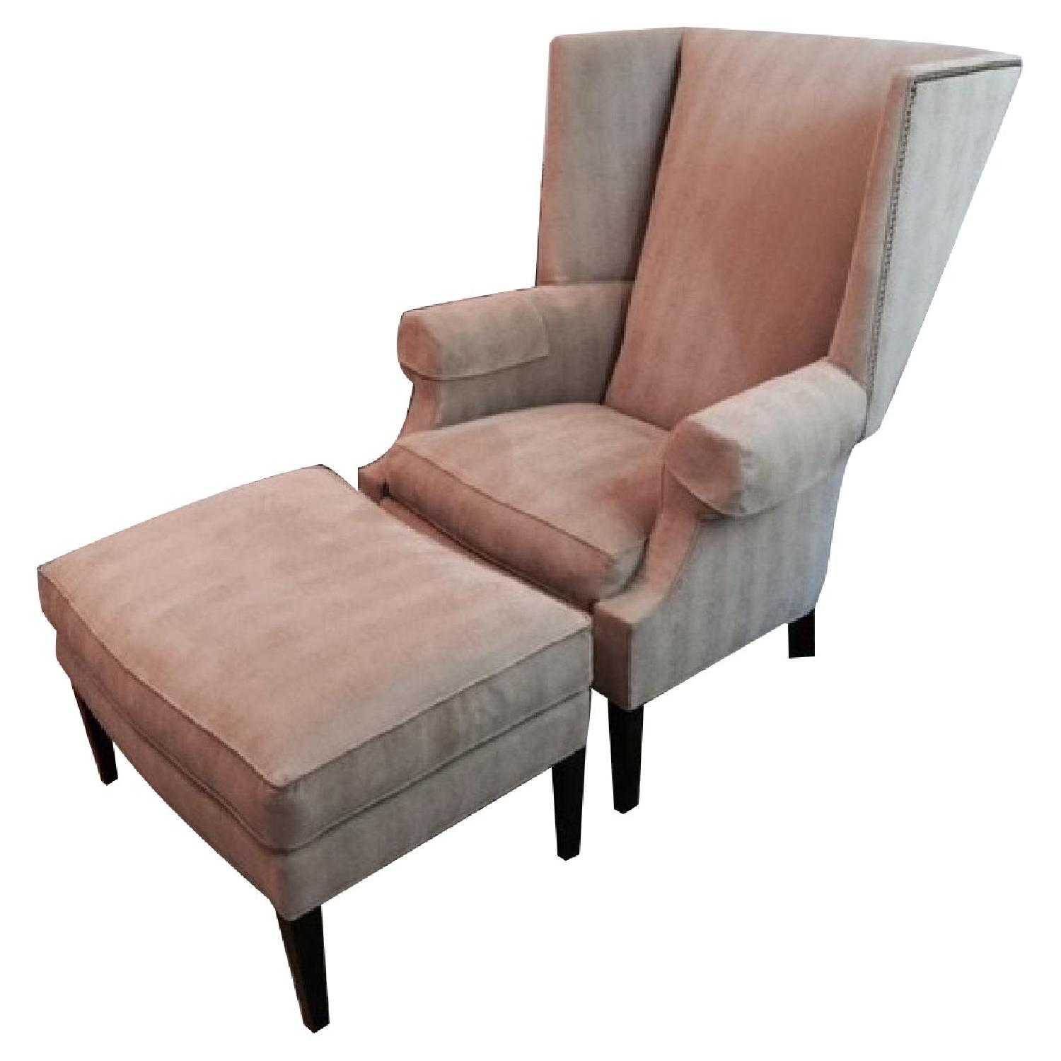 Stickley Audi Arm Chair and Ottoman - image-0