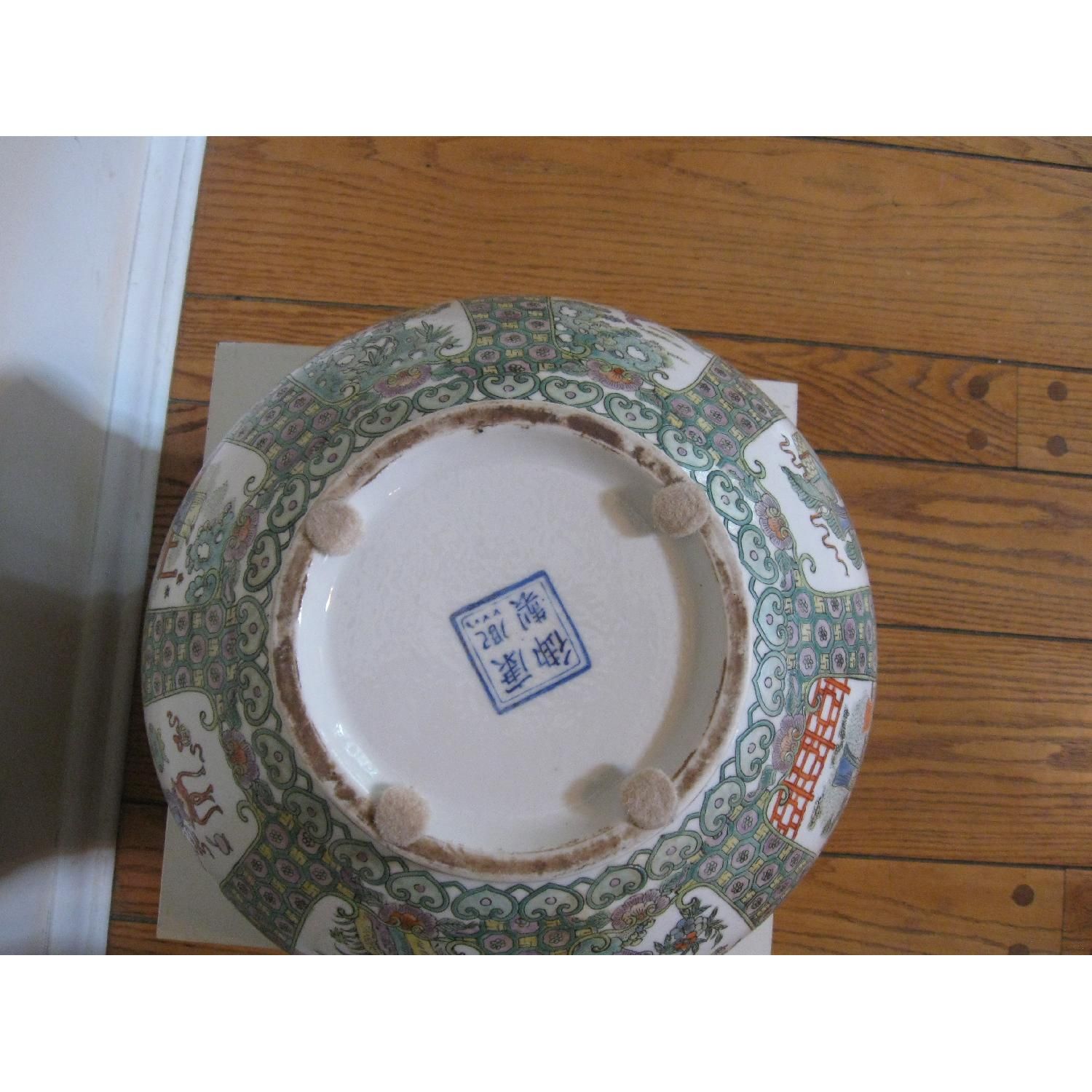 Chinese Porcelain Bowl with Scalloped Top - image-3