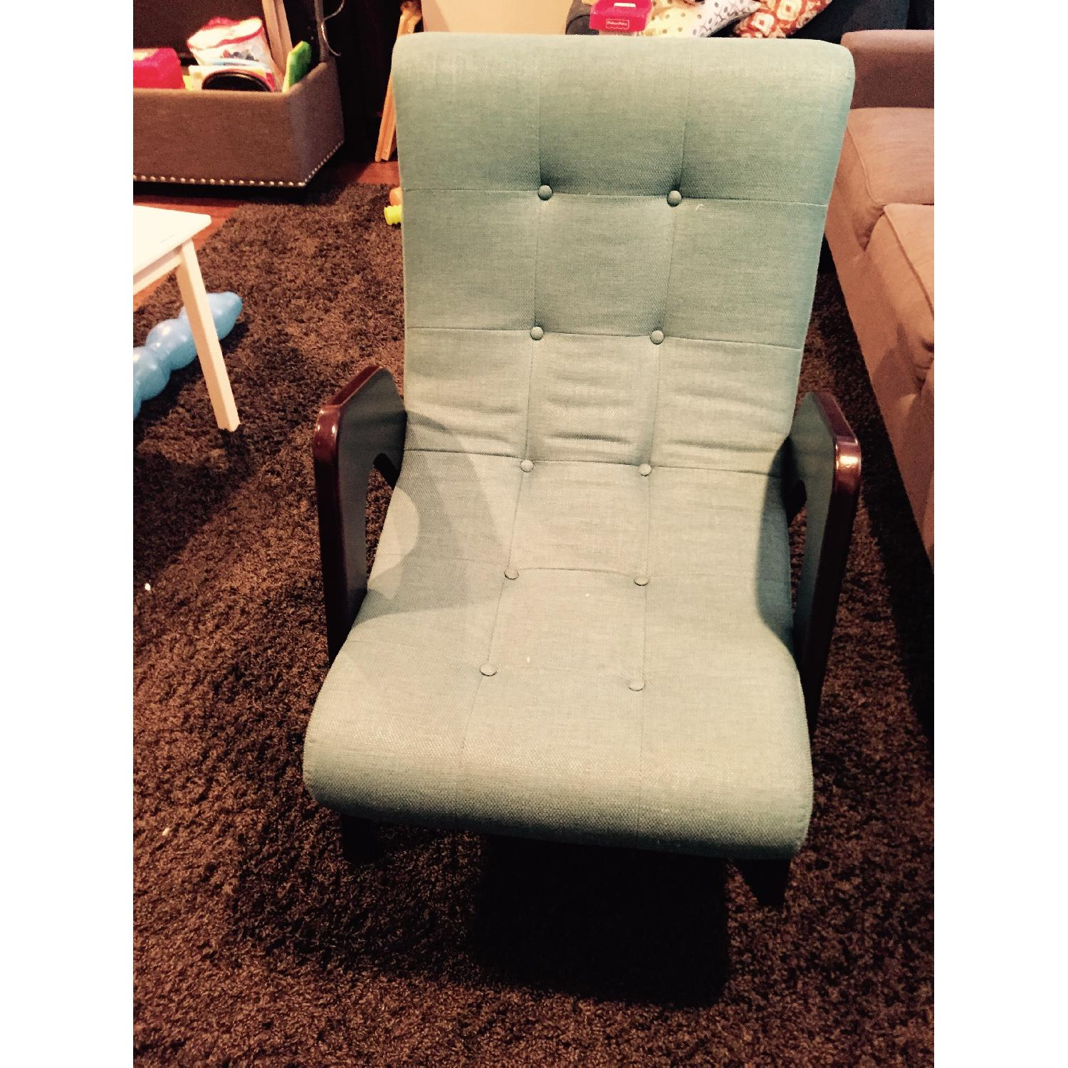 Younger Edie Retro-Chic Teal Lounge Chair - image-2