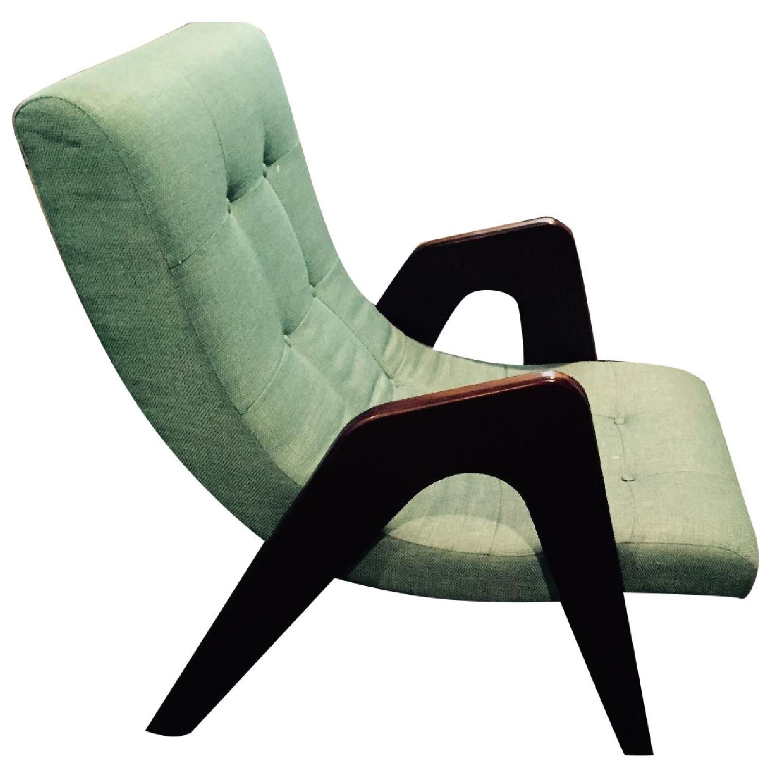 Younger Edie Retro-Chic Teal Lounge Chair - image-0
