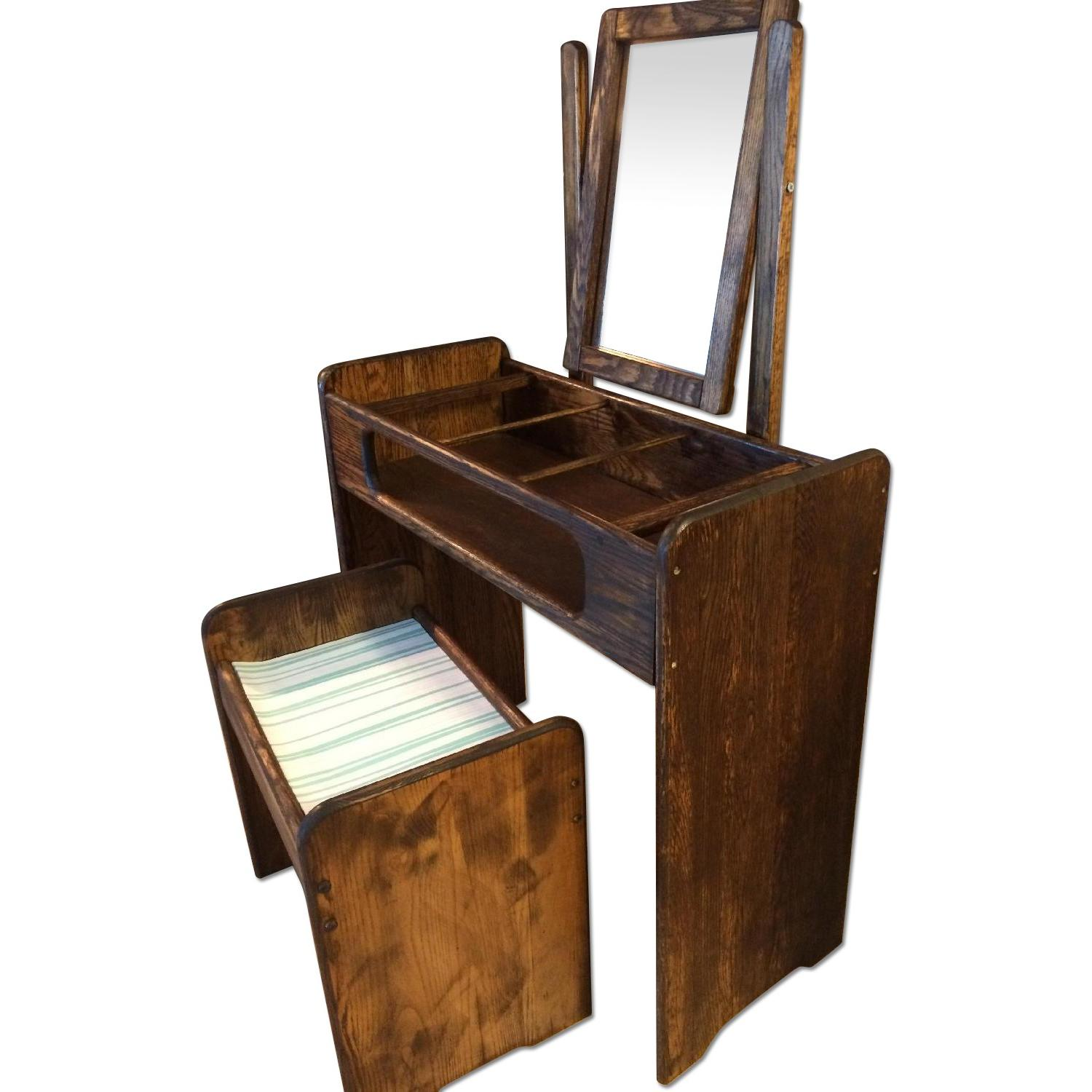 Make-Up/Vanity Table w/ Bench - image-0