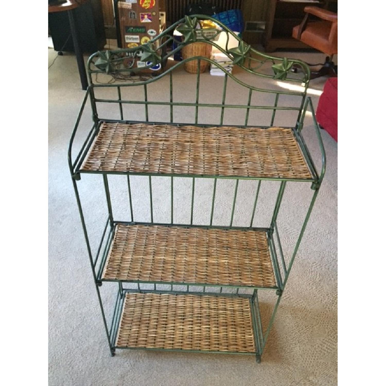 Decorative Wrought Iron Foldable Shelves - image-1