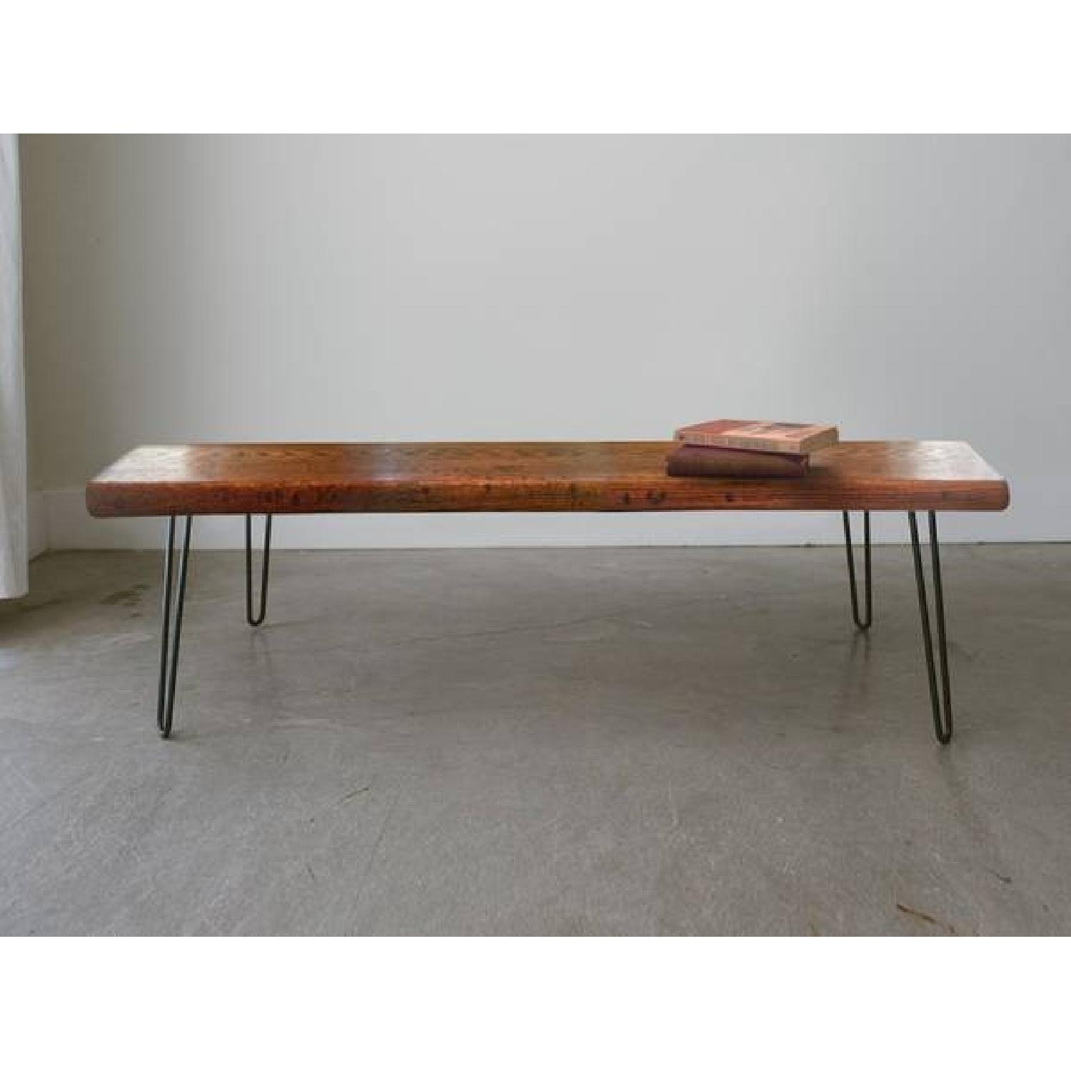 FurnitureNYC Manhattan Reclaimed Coffee Table w/ Hairpin Legs - image-1