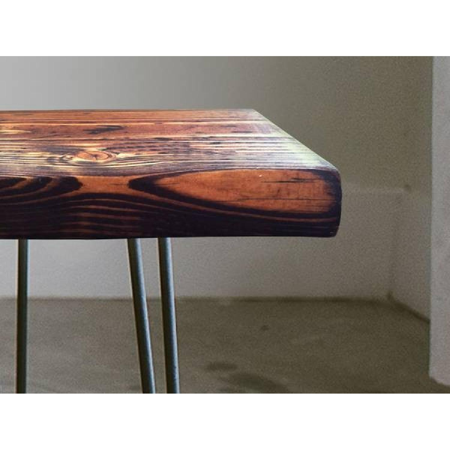 FurnitureNYC Manhattan Reclaimed Coffee Table w/ Hairpin Legs - image-2